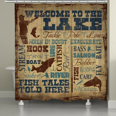 Braylen Welcome to the Lake Shower Curtain