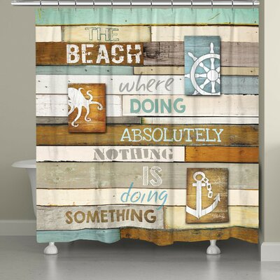 Alton Beach Mantra Shower Curtain