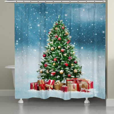 Snowy Tree Shower Curtain