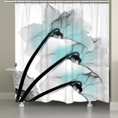 Bolivar Orchid X-Ray Flower Shower Curtain