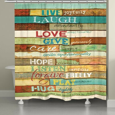 Canadice Live Laugh Love Shower Curtain