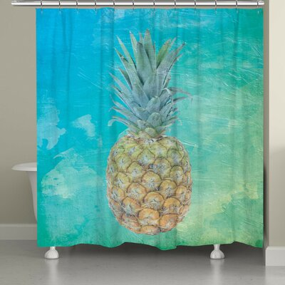 Brookhaven Hawaiian Pineapple Shower Curtain