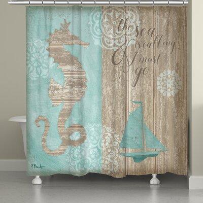 Hannover Beach Boardwalk Shower Curtain