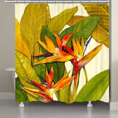 Eliana�Tropical Bird of Paradise Shower Curtain