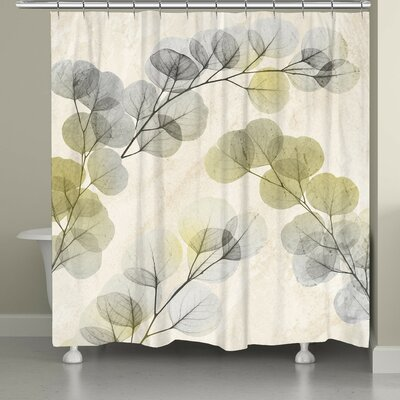 Canisteo X-Ray of Eucalyptus Leaves Shower Curtain