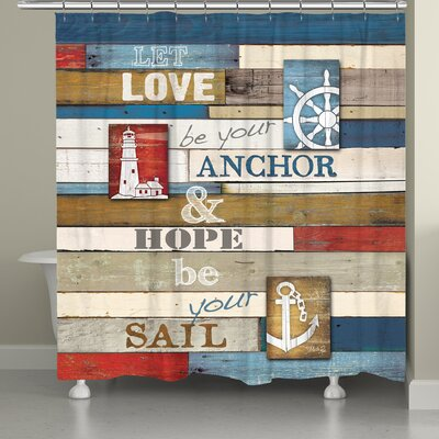 Burnham Nautical Anchor Inspiration Shower Curtain