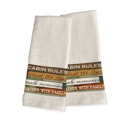Gunner Cabin Rules Hand Towel