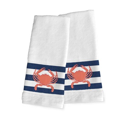 Crab Stripe Hand Towel