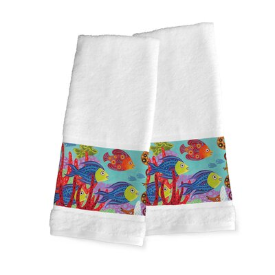 Ardell Fish in the Hood Hand Towel
