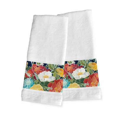 Midnight Florals Hand Towel