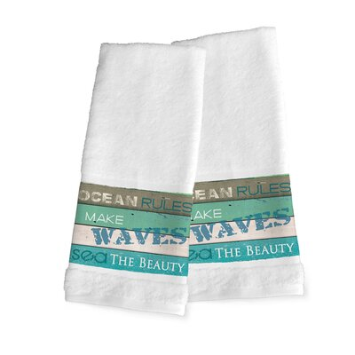 Ocean Rules Hand Towel