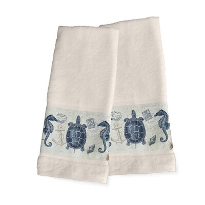 Seaside Postcard Hand Towel