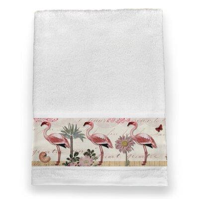 Glennwood Botanical Flamingo Bath Towel