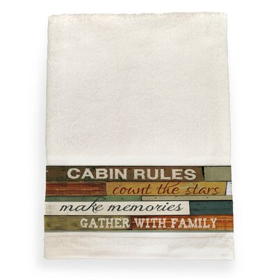 Gunner Cabin Rules Bath Towel