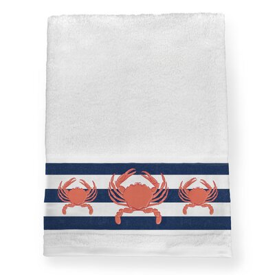 Brantwood Crab Stripe Bath Towel