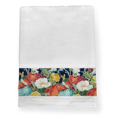 Midnight Floral Bath Towel