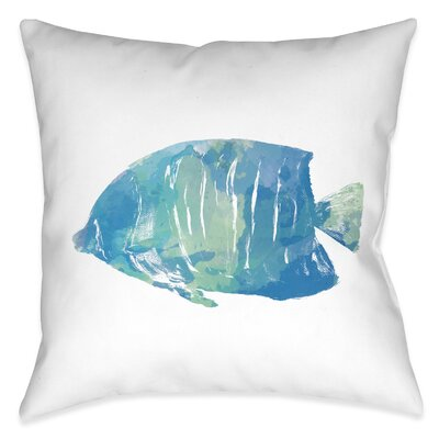 Colgate Watercolor Fish Outdoor Throw Pillow
