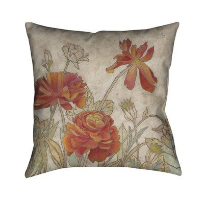 Joeann Hand-painted Outdoor Throw Pillow