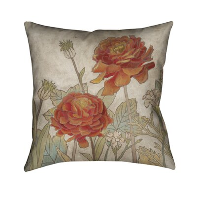 Joeann Square Hand-painted Outdoor Throw Pillow
