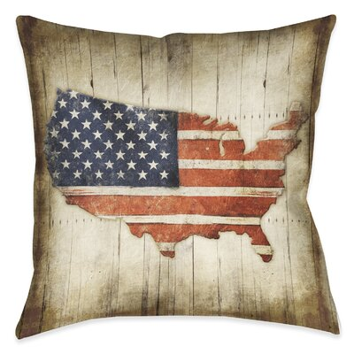 Saul Wooden Flag Outdoor Throw Pillow