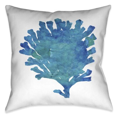 Wainwright Aquamarine Coral Outdoor Throw Pillow