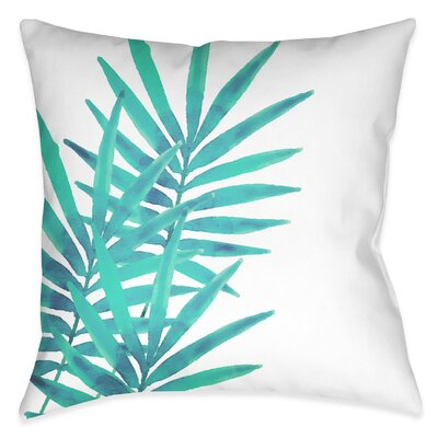 Eleni Leaves I Outdoor Throw Pillow Size: 20 x 20