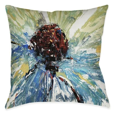 Caledonia Tricolor Daisy Outdoor Throw Pillow Size: 20 x 20