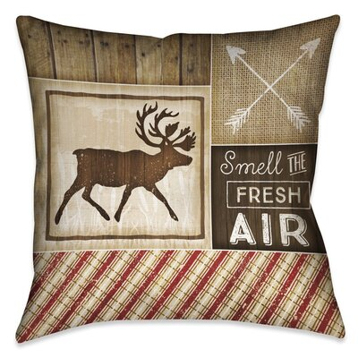 Jamari Rustic Outdoor Throw Pillow Size: 20 x 20
