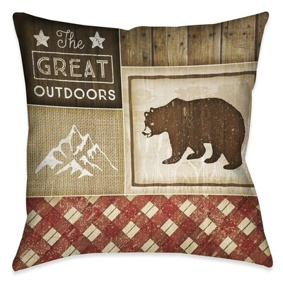 Jamari Rustic Square Outdoor Throw Pillow Size: 18 x 18