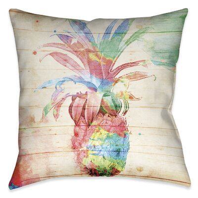 Stach Pineapple Outdoor Throw Pillow Size: 18 x 18