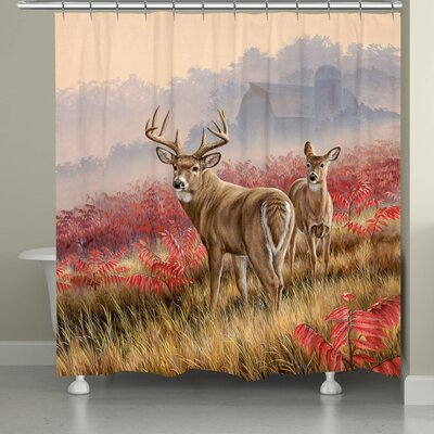 Molchadsky Deer in Lifting Fog Shower Curtain