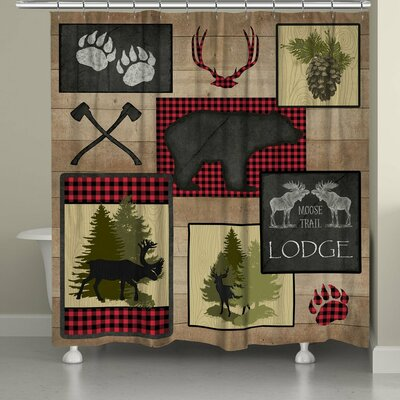 Barjatya Lumberjack Plaid Shower Curtain