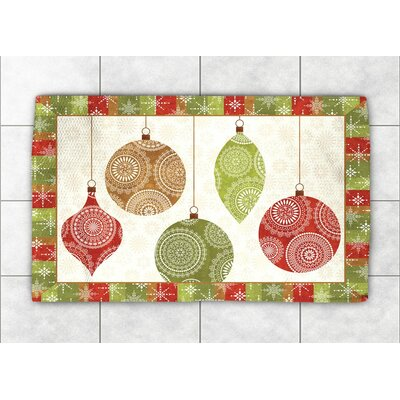 Holiday Ornaments Area Rug