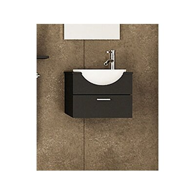 Mira 20.9 Single Wall Mounted Modern Vanity Set