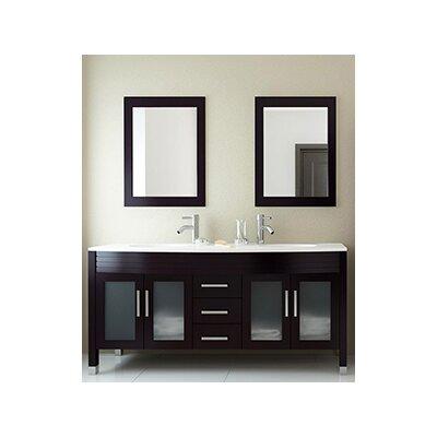 Grand Regent 63 Double Contemporary Bathroom Vanity Set