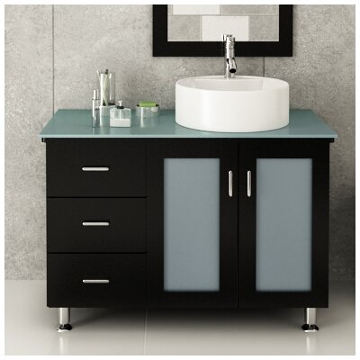 Lune 39 Single Vessel Modern Bathroom Vanity Set