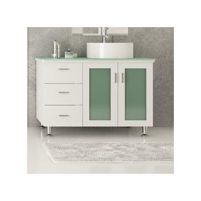 Lune 39 Single Vessel Modern Bathroom Vanity Set