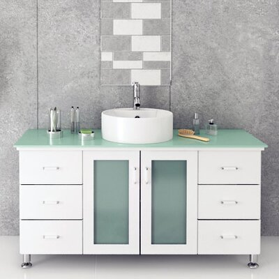 Grand Lune 47 Single Vessel Modern Bathroom Vanity Set