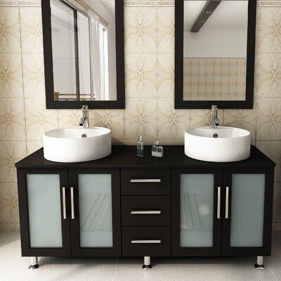 59 Double Lune Bathroom Vanity Set