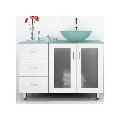 Lune Glass 39 Single Bathroom Vanity Set