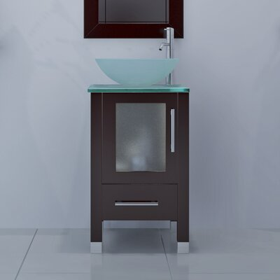 Soft Focus 17.75 Single Bathroom Vanity Set Base Finish: Espresso