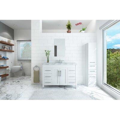Edgardo Undermount 47 Single Bathroom Vanity Set Base Finish: White