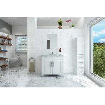 DeLorin 36 Single Bathroom Vanity Set Base Finish: White