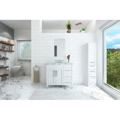 Keanu 40 Single Bathroom Vanity Base Finish: White