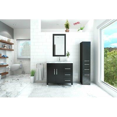 Keanu 40 Single Bathroom Vanity Base Finish: Espresso