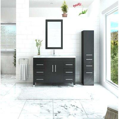 Edgardo Undermount 47 Single Bathroom Vanity Set Base Finish: Espresso