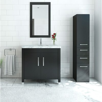 DeLorin 36 Single Bathroom Vanity Set Base Finish: Espresso