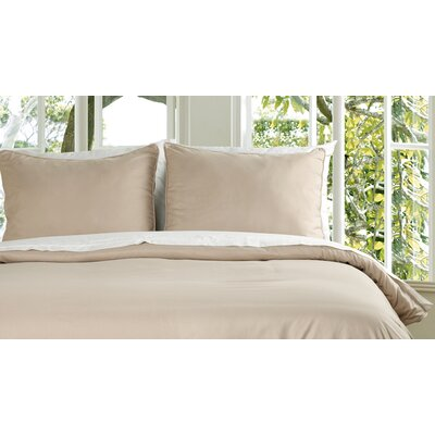 Duvet Cover Set Size: King, Color: Taupe