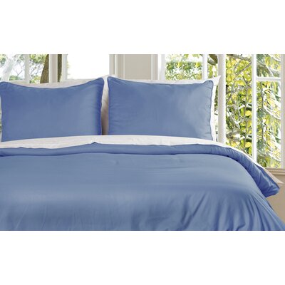 Duvet Cover Set Size: Twin, Color: Smoke Blue