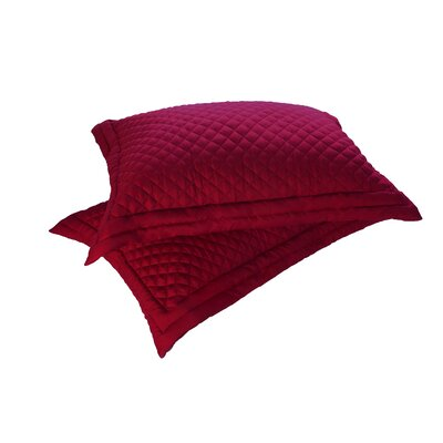 Sham Set Size: Standard, Color: Red